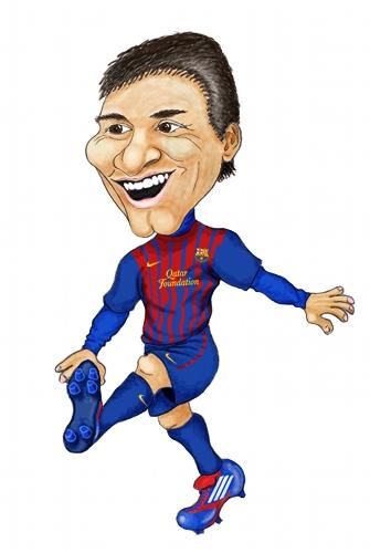 Lionel Messi Barcelona Karikatyr Jokarse